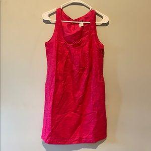 Pink J. Crew Flowy Dress